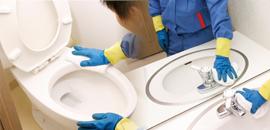 トイレクリーニング + 洗面所クリーニング  各一式